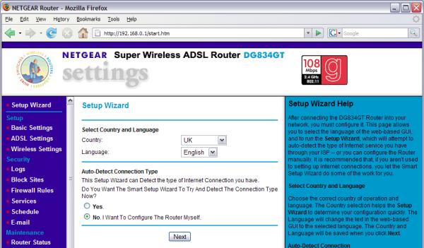 Netgear dg834 router manual.