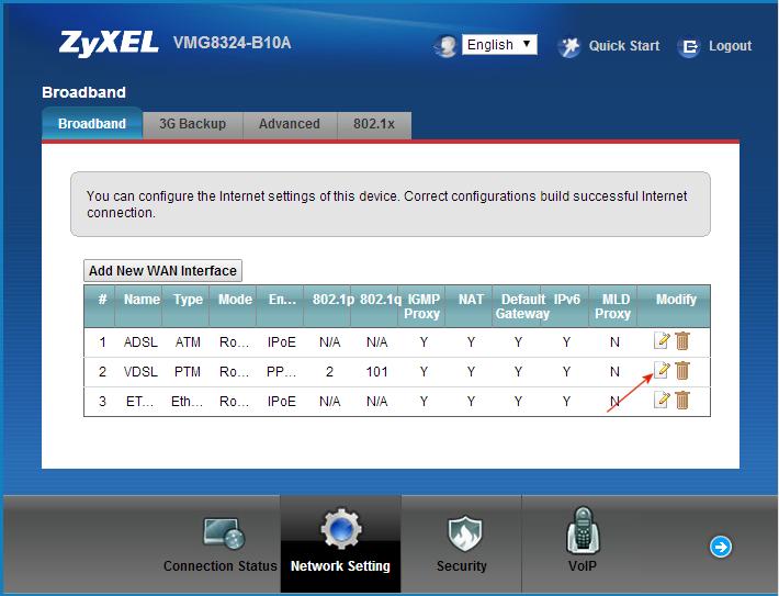 Kitz - ZyXEL VMG8324 VDSL configure