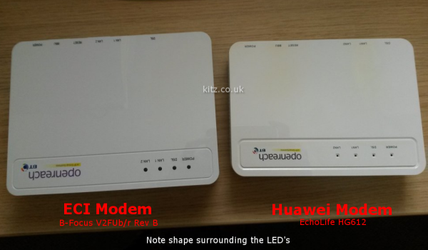 Kitz - Supplied vdsl modem/routers  ::